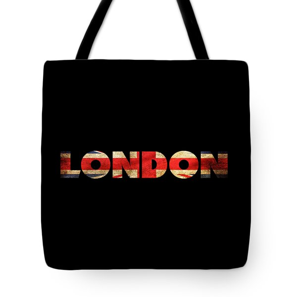 London Vintage British Flag Tee Tote Bag