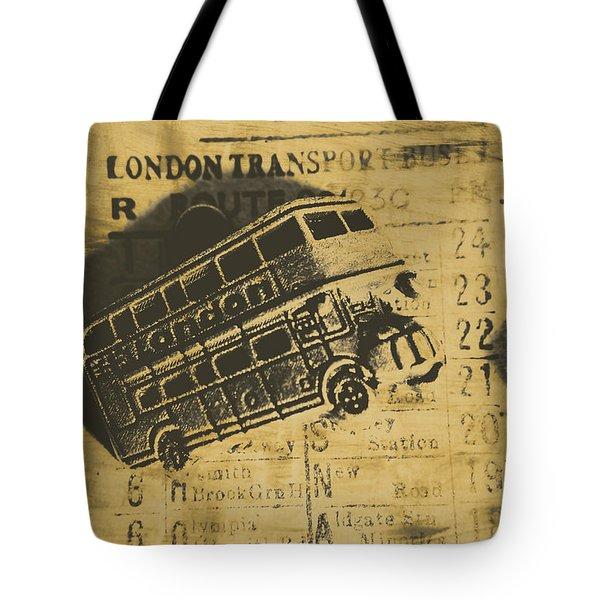 Londoners Run Tote Bag