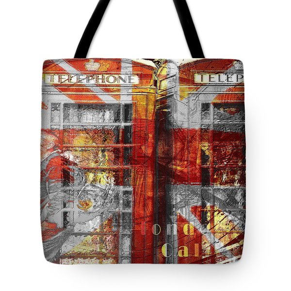 Tote Bag featuring the digital art London's Calling  by Fine Art By Andrew David