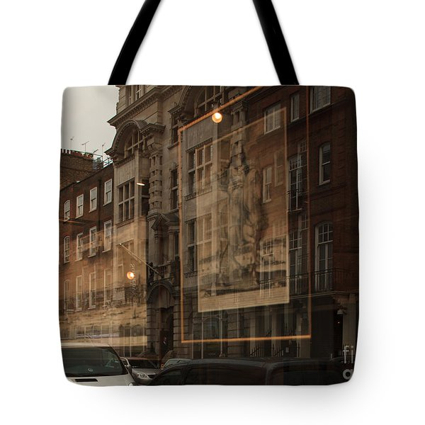 London,window Reflections Tote Bag