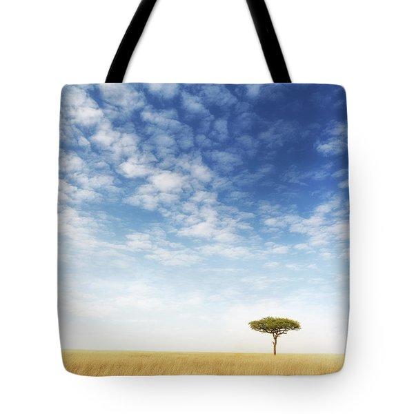 Lone Acacia Tree In The Masai Mara Tote Bag