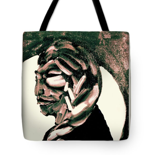 Tote Bag featuring the painting Lone Bear by Larry Campbell