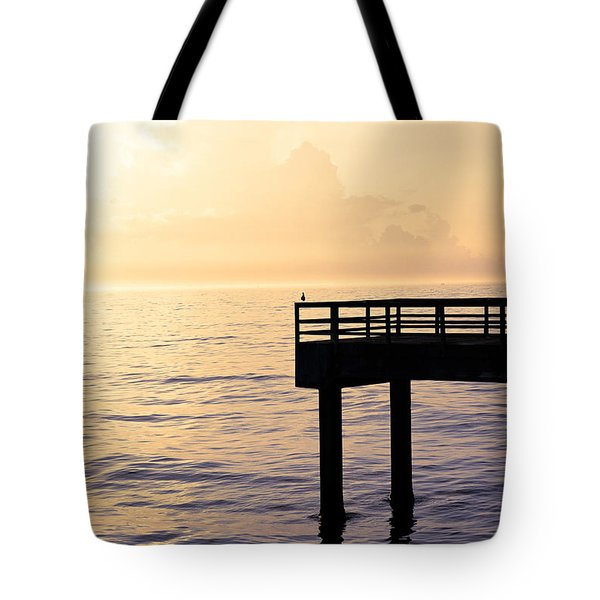 Lone Bird At Morning Tote Bag by Marilyn Hunt