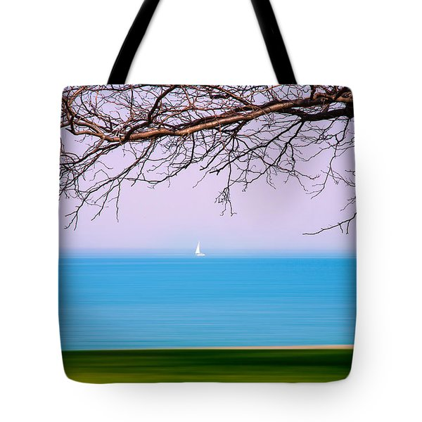 Lone Boat Tote Bag by Milena Ilieva