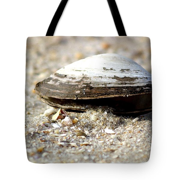 Lone Clam Tote Bag by Mary Haber