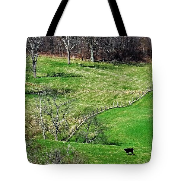 Lone Cow Tote Bag