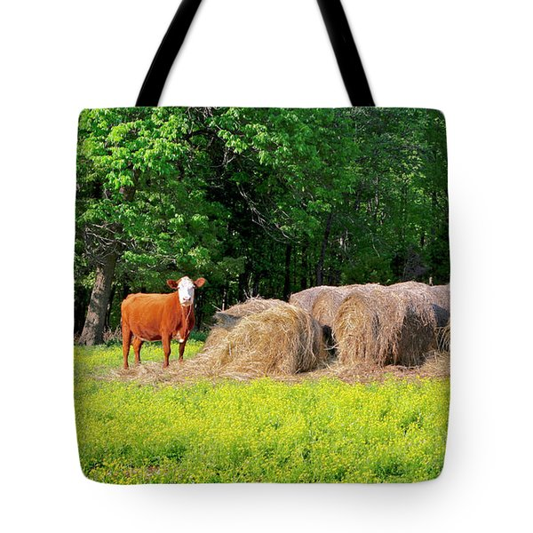 Lone Cow Guard, Smith Mountain Lake Tote Bag