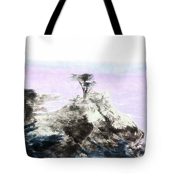 Lone Cypress Monterey Tote Bag