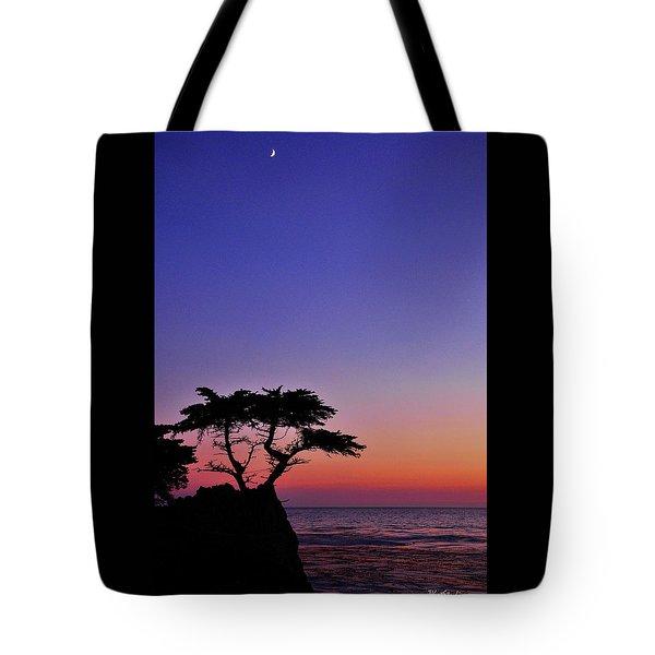 Lone Cypress Tree At Pebble Beach Tote Bag