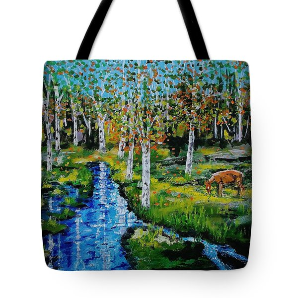 Lone Deer Tote Bag by Mike Caitham