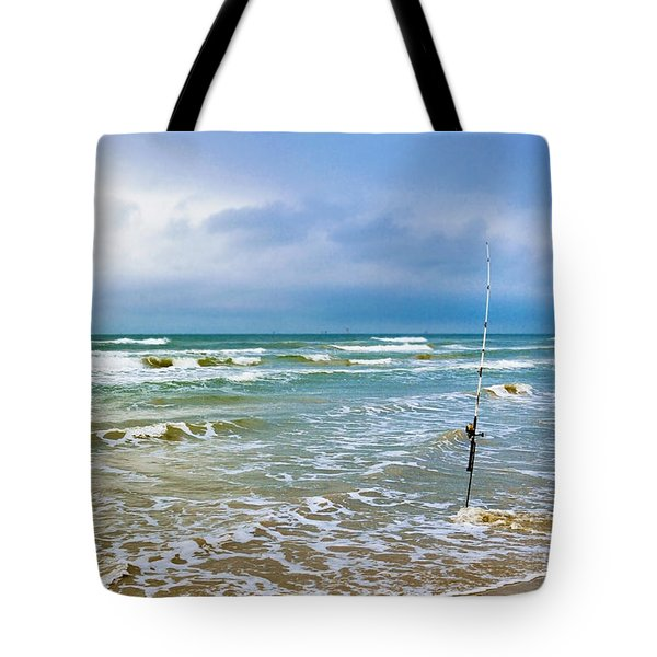 Lone Fishing Pole Tote Bag