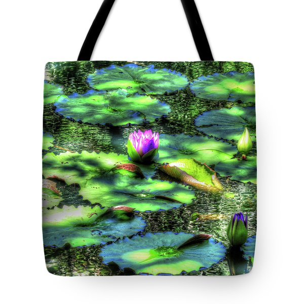 Tote Bag featuring the digital art Lone Lily by Kathleen Illes