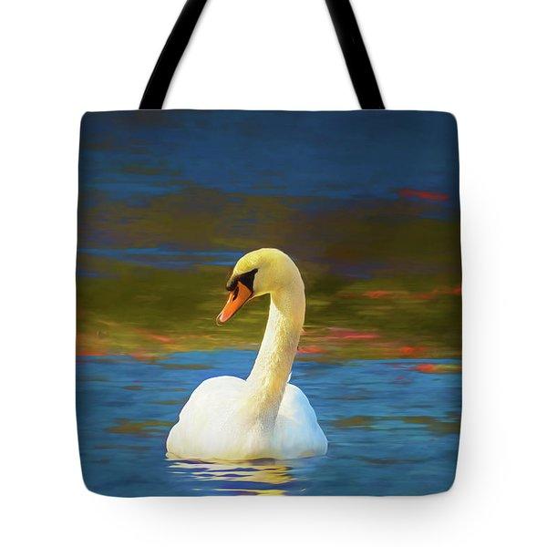 Lone Mute Swan. Tote Bag