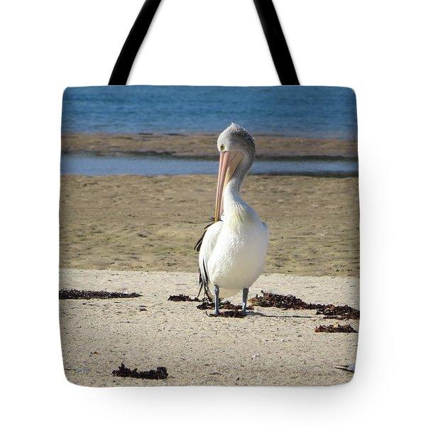 Lone Pelican Tote Bag