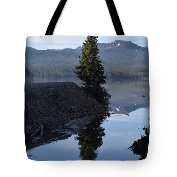Lone Pine Reflection Chambers Lake Hwy 14 Co Tote Bag