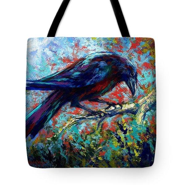 Lone Raven Tote Bag