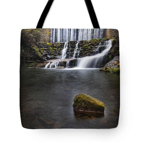 Lone Rock At The Falls Tote Bag