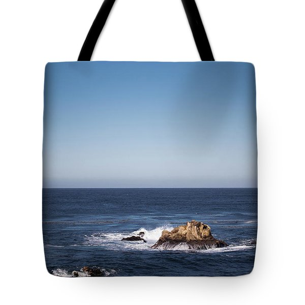 Tote Bag featuring the photograph Lone Rock In The Ocean by Jingjits Photography