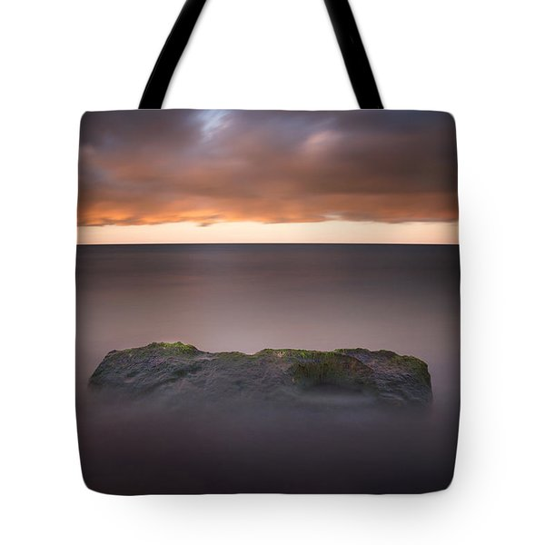 Tote Bag featuring the photograph Lone Stone At Sunrise by Adam Romanowicz