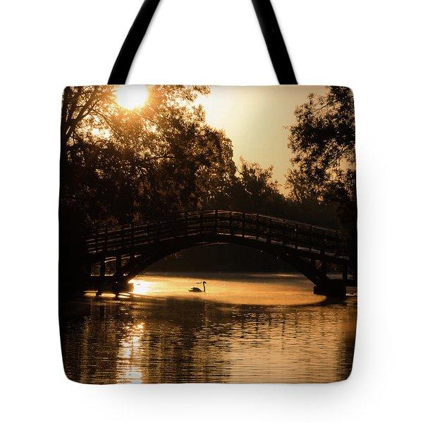 Lone Swan Up For Dawn Tote Bag