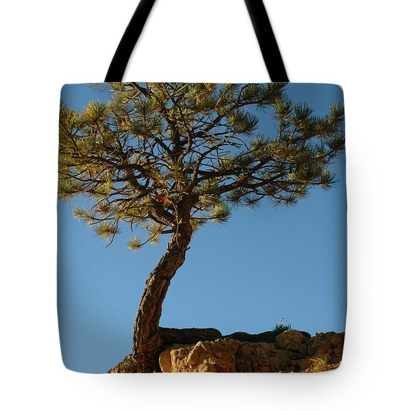 Lone Tree And Moon In Bryce Canyon Tote Bag