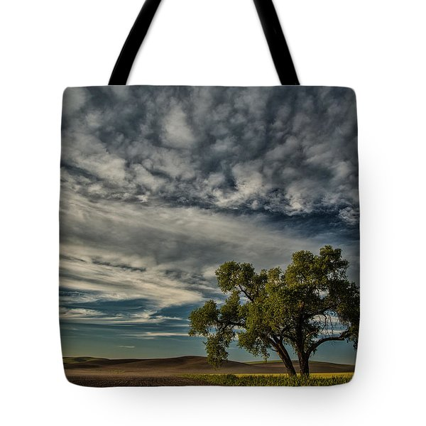 Lone Tree In Field Tote Bag