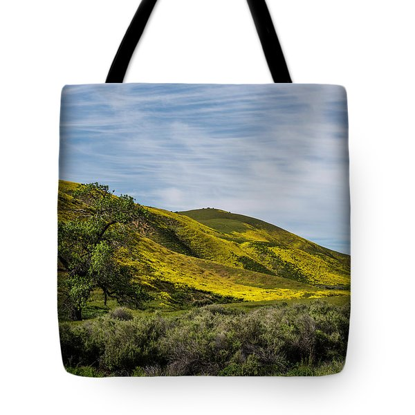 Lone Tree On The Plain Tote Bag
