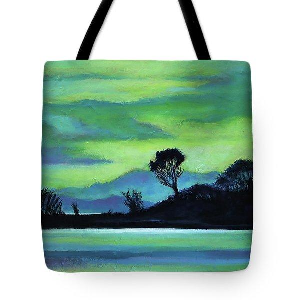 Lone Tree On The Salish Sea Tote Bag