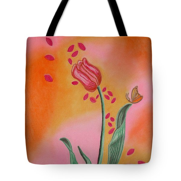 Lone Tulip Tote Bag by Christine Perry
