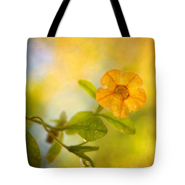 Lone Yellow Flower Tote Bag