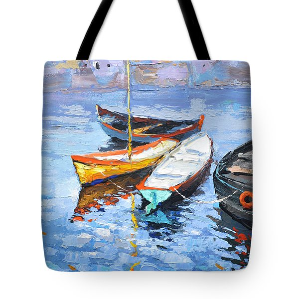 Lonely Boats  Tote Bag