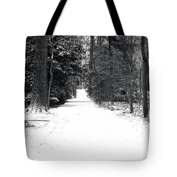 Lonely Cold Road  Tote Bag