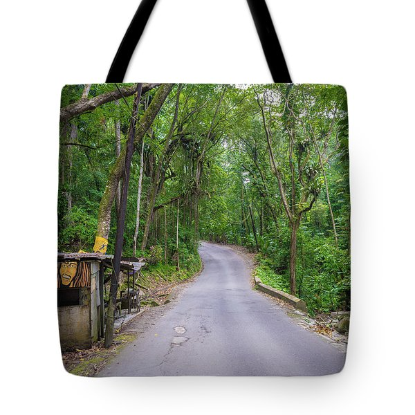 Lonely Country Road Tote Bag