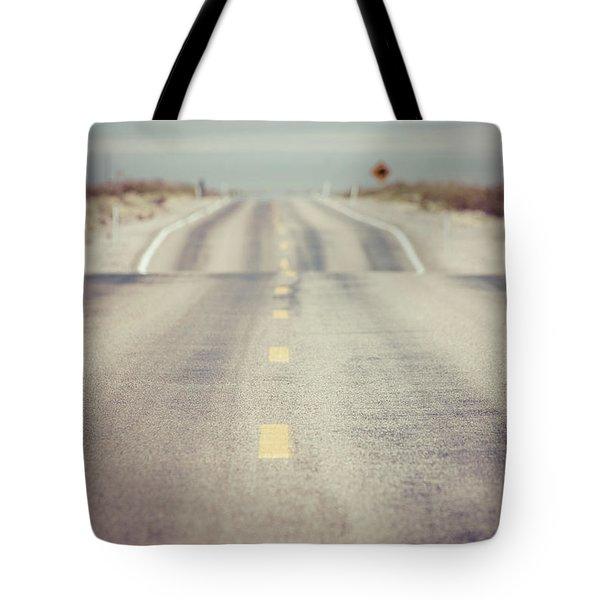 Lonely Desert Highway Road Tote Bag