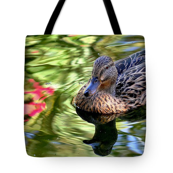 Tote Bag featuring the photograph Lonely Duckie by Elaine Malott
