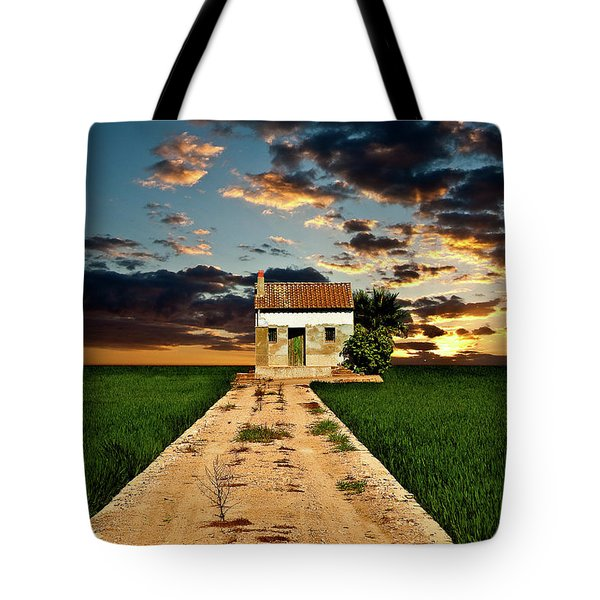 Tote Bag featuring the photograph Lonely Farm House  by Harry Spitz