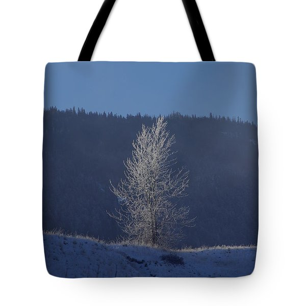 Lonely Frosty Tree Tote Bag
