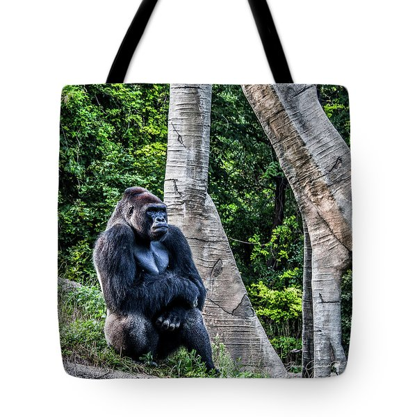 Tote Bag featuring the photograph Lonely Gorilla by Joann Copeland-Paul