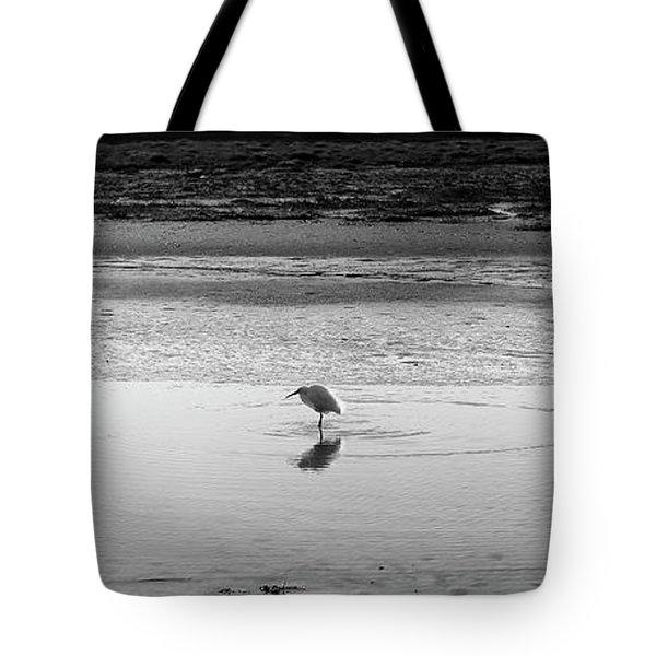 Lonely Heron Tote Bag by Nicholas Burningham