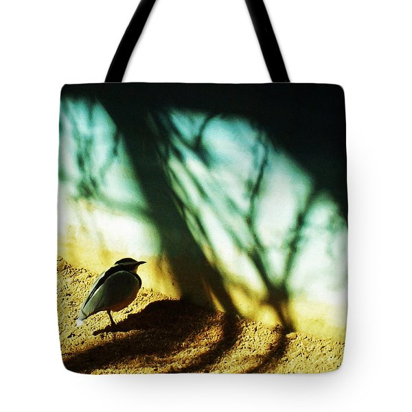Tote Bag featuring the photograph Lonely Little Bird by Shawna Rowe