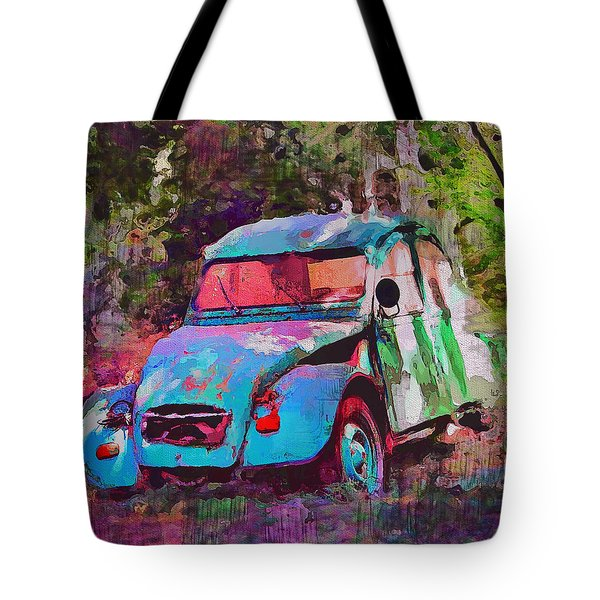Lonely Old Car Tote Bag
