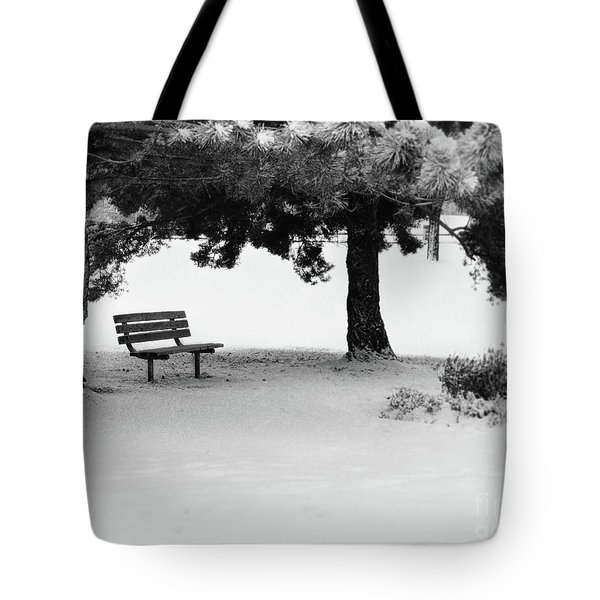 Lonely Park Bench Tote Bag