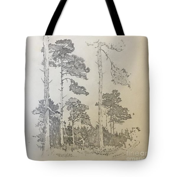 Lonely Pines Tote Bag