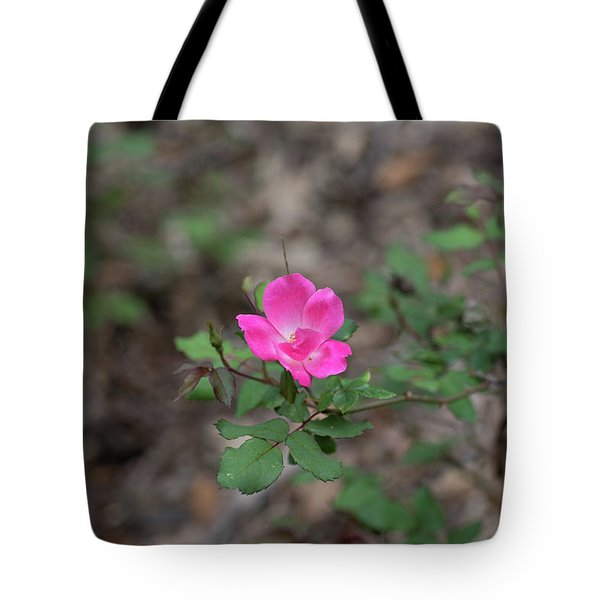 Lonely Pink Flower Tote Bag