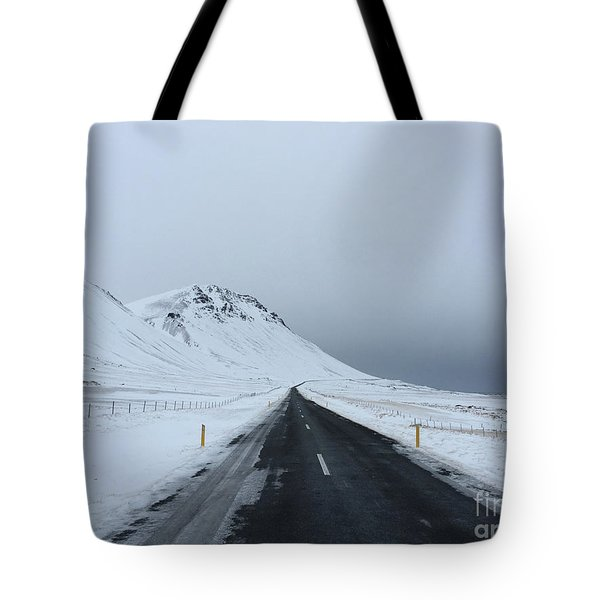 Lonely Road On Snaefellsnes Peninsula Tote Bag