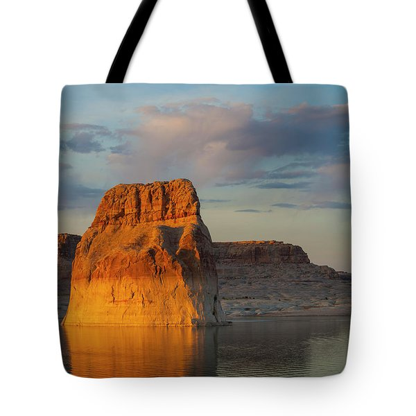 Lonely Rock Tote Bag by David Cote