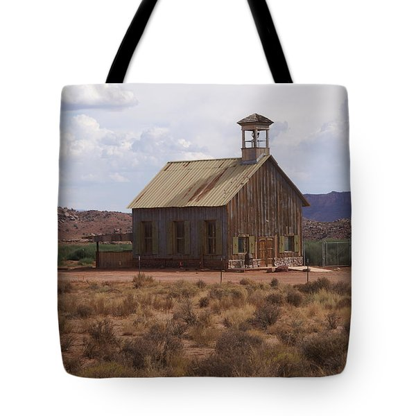 Lonely Schoolhouse Tote Bag by Marty Koch