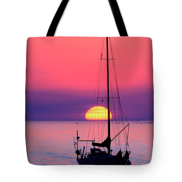 Tote Bag featuring the photograph Lonely Sunset by Bernardo Galmarini