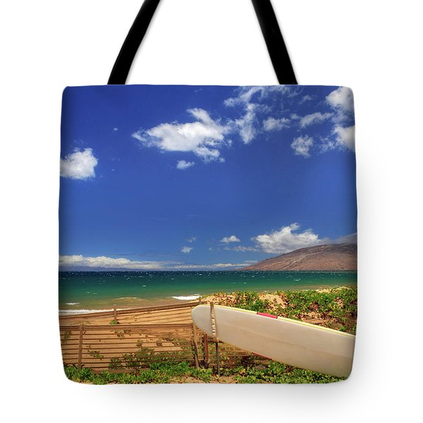Lonely Surfboard Tote Bag by James Eddy