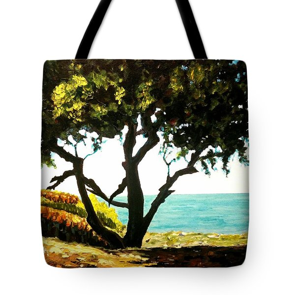 Lonely Tree By The Beach Tote Bag